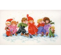 Children Playing in the Snow - 14-258c - 26ct