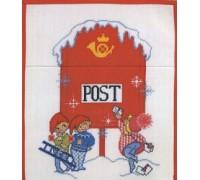 Christmas Post Wall Hanging - 19-201H - 14ct