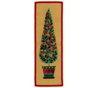 Christmas Tree Wall Hanging - 08-4388V - 12ct hessian