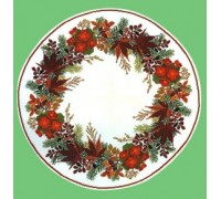 Christmas Wreath Tablecloth - 05-4126C - 26ct