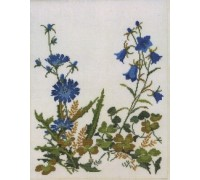 Cornflower and Harebell Table Runner