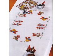 Dancing Children Tablecloth - 12-472H - 14ct