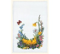 Easter Chicks Table Runner - 23-281C - 26ct