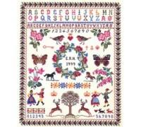 Flora and Fauna Alphabet Sampler - 12-539C - 26ct