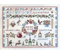 Flowers and Bells Alphabet Sampler - 12-007B - 30ct
