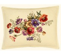French Anemones Cushion Front - 42-263F - 25ct