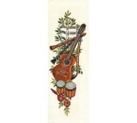 Guitar Musical Bell Pull - 13-336C - 26ct
