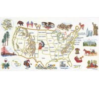 Historical Map of America - 12-606C - 26ct