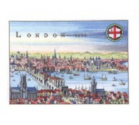 Historical Map of London 1616 - 12-353C - 26ct