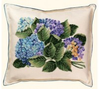 Hydrangea Cross Stitch Cushion - 42-372B - 30ct
