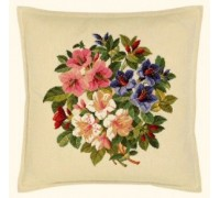 Lilies Cross Stitch Cushion - 42-361FF - 25ct