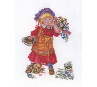Little Girl with Cake - 12-971C - 26ct