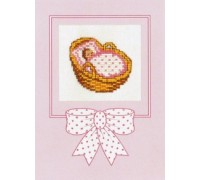 Moses Basket Girl Card Kit - 45-389C - 26ct
