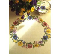 Pansy and Apple Blossom Tablecloth