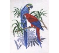 Parrots on a Branch - 12-765E - 19ct