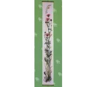 Pink Thistle Bellpull - 09-2458C - 26ct