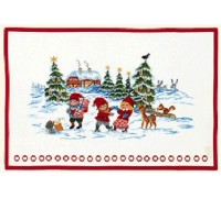 Playing in the Snow Christmas Advent Calendar - 15-259C - 26ct