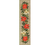 Poinsettia Table Runner - 23-295C - 26ct