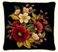 Poppy Posy Tapestry Cushion Front - 56-221N - 11ct