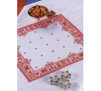 Red Sampler Motifs Tablecloth - 12-361H - 14ct