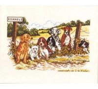 Row of Puppies - 14-224C - 26ct