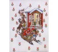 Santa and Reindeers Advent Calendar - 15-029H - 14ct