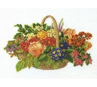 Spring Flower Basket - 14-186C - 26ct