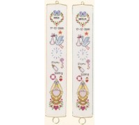 Stalk Birth Sampler Bell Pull - 13-280C - 26ct