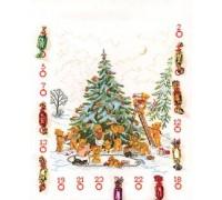 Teddy Bear Christmas Tree Advent Calendar - 12-258C - 26ct
