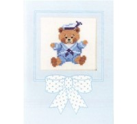 Teddy Sailor Boy Card - 43-385C - 26ct