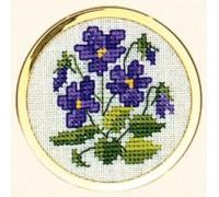 Violets Handbag Mirror - 46-005B - 30ct