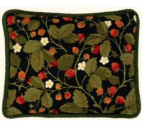 Wild Strawberries Tapestry Cushion Front - 01-0440N - 11ct