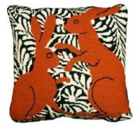 Brown Boxing Hares Tapestry