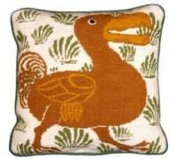 Green and Cream Dodo Tapestry