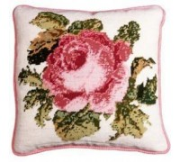 Historical Rose Tapestry Cushion