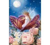 Fairy on Butterfly Chart or Kit