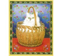 Roses Cat Bengy in Basket Chart - 10-1075