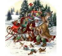 Woodland Santa Chart - 07-2667 - chart only