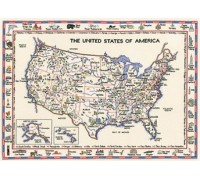United States of America Map - WMUS578 - 27ct
