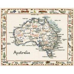 World Maps in Cross Stitch