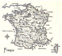 Map of France - WMFR298 - 27ct