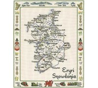 Snowdonia Map Cross Stitch - MSW428 - 27ct
