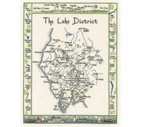 The Lake District Map Cross Stitch - MLD399 - 27ct