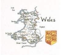 Map of Wales by Heritage - MWA130 - 27ct