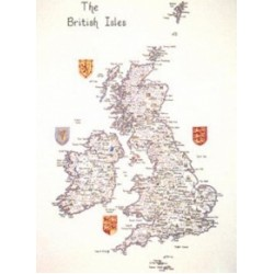 British Isles Maps by Heritage Crafts