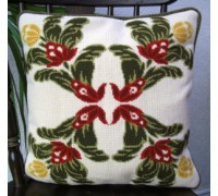 Cut Velvet Floral Quartet II Tapestry