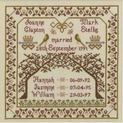 Wedding Samplers by Historical Sampler Co