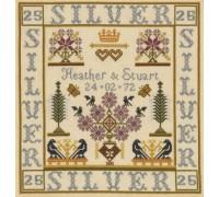 Silver Wedding Anniversary Sampler
