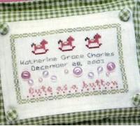 Cute As A Button Chart - Girl - 04-1211