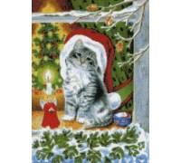 Christmas Kitty Chart or Kit